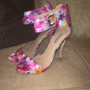 Floral heel sandals